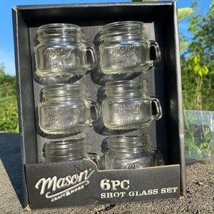 NEW Set of 6 cute mini MASON jar Shot Glasses